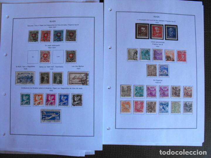 Sellos: Suiza. Álbum y cuaderno con hojas. 1843-1998. Todo en las fotos. - Foto 17 - 219513556