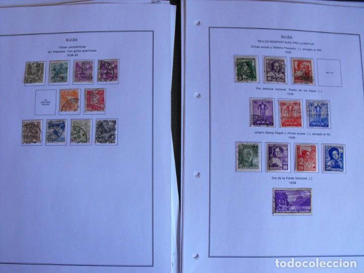 Sellos: Suiza. Álbum y cuaderno con hojas. 1843-1998. Todo en las fotos. - Foto 18 - 219513556