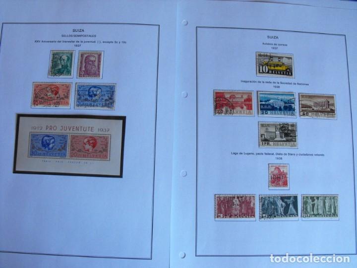 Sellos: Suiza. Álbum y cuaderno con hojas. 1843-1998. Todo en las fotos. - Foto 19 - 219513556