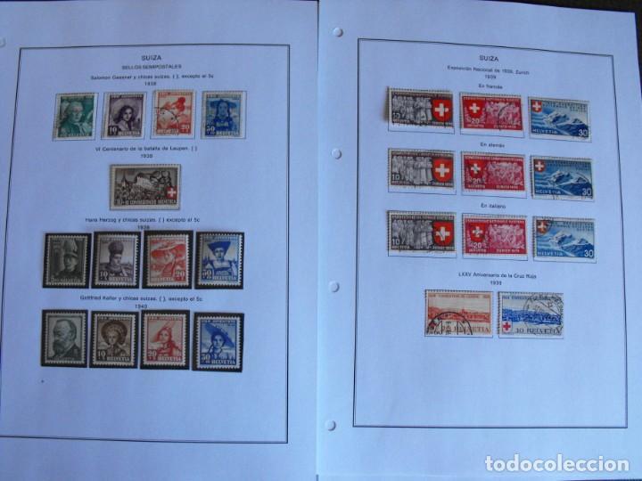 Sellos: Suiza. Álbum y cuaderno con hojas. 1843-1998. Todo en las fotos. - Foto 20 - 219513556