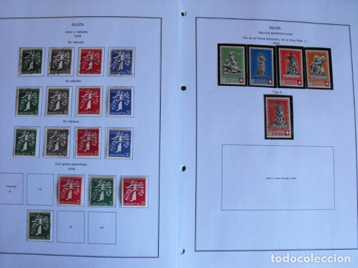 Sellos: Suiza. Álbum y cuaderno con hojas. 1843-1998. Todo en las fotos. - Foto 21 - 219513556