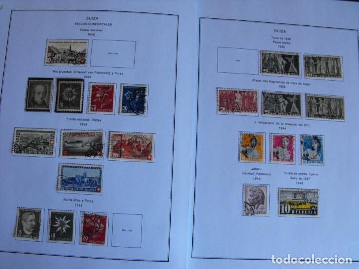 Sellos: Suiza. Álbum y cuaderno con hojas. 1843-1998. Todo en las fotos. - Foto 23 - 219513556