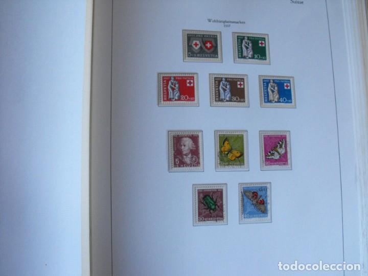 Sellos: Suiza. Álbum y cuaderno con hojas. 1843-1998. Todo en las fotos. - Foto 38 - 219513556