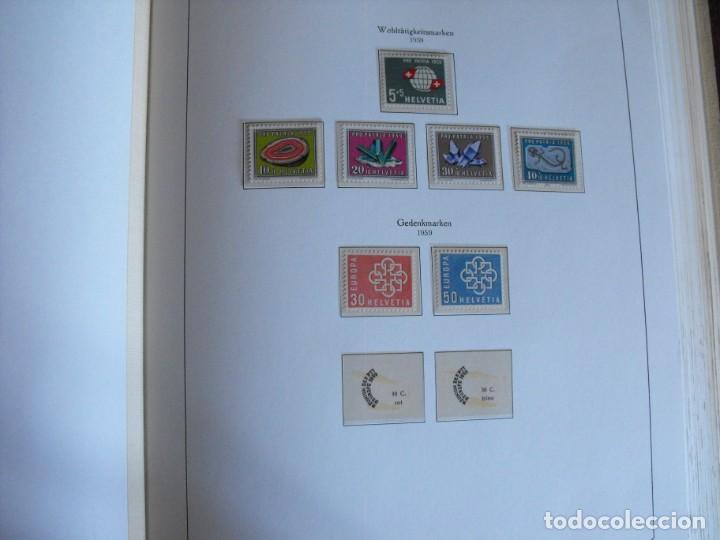Sellos: Suiza. Álbum y cuaderno con hojas. 1843-1998. Todo en las fotos. - Foto 41 - 219513556