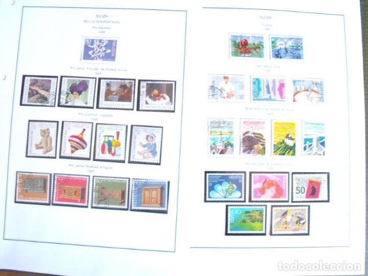 Sellos: Suiza. Álbum y cuaderno con hojas. 1843-1998. Todo en las fotos. - Foto 109 - 219513556