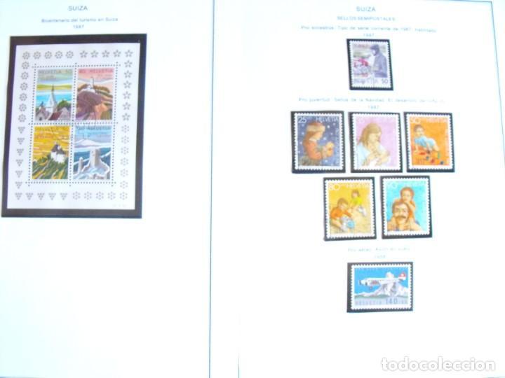Sellos: Suiza. Álbum y cuaderno con hojas. 1843-1998. Todo en las fotos. - Foto 110 - 219513556