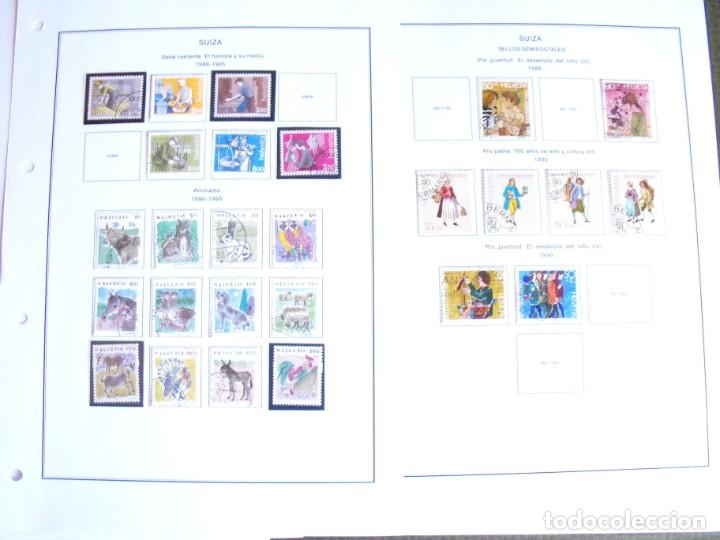 Sellos: Suiza. Álbum y cuaderno con hojas. 1843-1998. Todo en las fotos. - Foto 113 - 219513556
