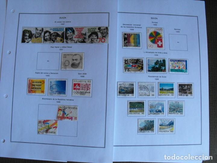 Sellos: Suiza. Álbum y cuaderno con hojas. 1843-1998. Todo en las fotos. - Foto 121 - 219513556