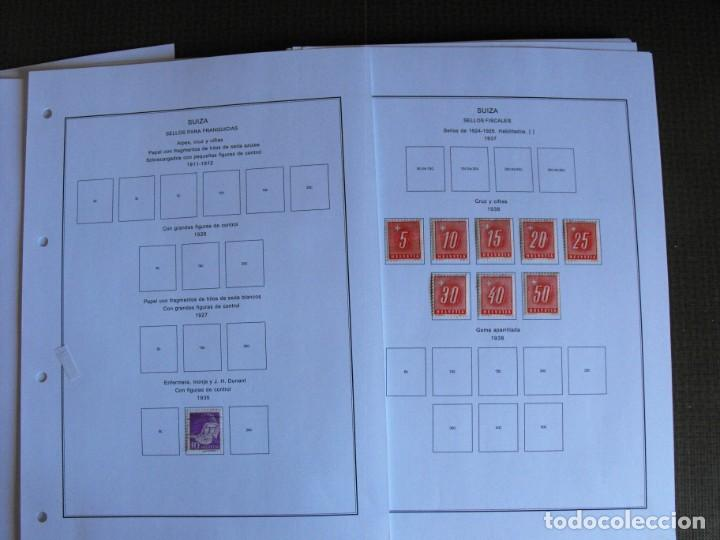 Sellos: Suiza. Álbum y cuaderno con hojas. 1843-1998. Todo en las fotos. - Foto 126 - 219513556