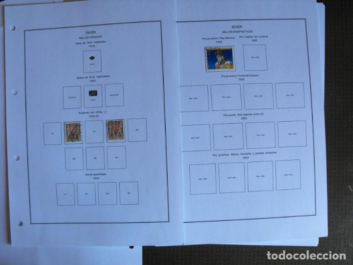Sellos: Suiza. Álbum y cuaderno con hojas. 1843-1998. Todo en las fotos. - Foto 127 - 219513556