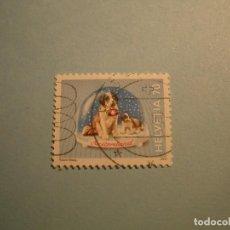 Sellos: SUIZA - PERROS - SAN BERNARDO.. Lote 219886367