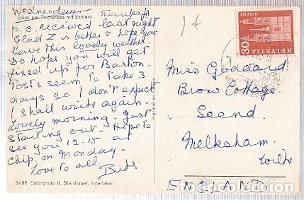 SUIZA & MARCOFILIA, SPIEZ EN EL LAGO, THUN, CASTILLO, MELKSHAM INGLATERRA 1962 (8406) (Sellos - Extranjero - Europa - Suiza)