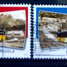 Selos: SUIZA 2019 TRANSPORTE PÚBLICO SERIE DE SELLOS USADOS. Lote 221701925
