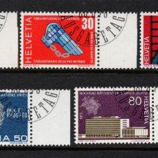 Sellos: SUIZA 850/54 - AÑO 1970 - ANIVERSARIOS. Lote 222573450