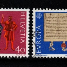 Sellos: SUIZA 1150/51 - AÑO 1982 - EUROPA - HISTORIA. Lote 222573701