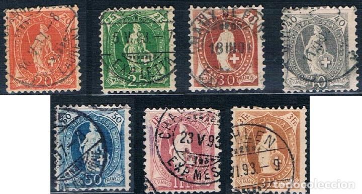 SUIZA 1880/1882 SERIE USADOS BONITOS MATASELLOS BUENOS VALORES (Sellos - Extranjero - Europa - Suiza)