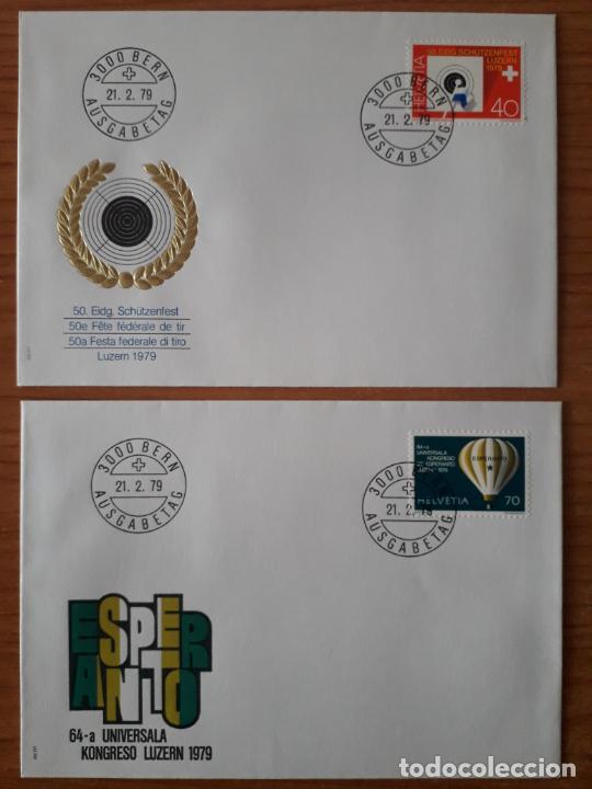 Sellos: SUIZA COLECCION DE 65 SOBRES PRIMER DIA DE CIRCULACION DE LOS AÑOS 1978-1980 SERIES COMPLETAS - Foto 21 - 225750707