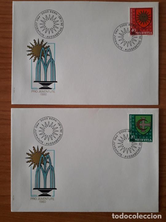 Sellos: SUIZA COLECCION DE 65 SOBRES PRIMER DIA DE CIRCULACION DE LOS AÑOS 1978-1980 SERIES COMPLETAS - Foto 24 - 225750707