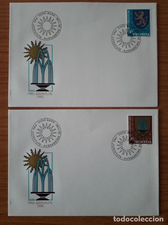 Sellos: SUIZA COLECCION DE 65 SOBRES PRIMER DIA DE CIRCULACION DE LOS AÑOS 1978-1980 SERIES COMPLETAS - Foto 25 - 225750707