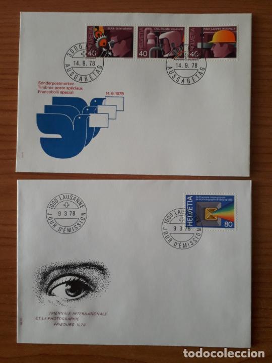 SUIZA COLECCION DE 65 SOBRES PRIMER DIA DE CIRCULACION DE LOS AÑOS 1978-1980 SERIES COMPLETAS (Sellos - Extranjero - Europa - Suiza)