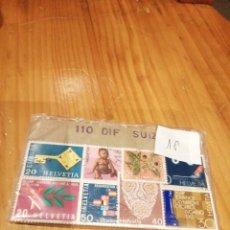 Sellos: 110 SELLOS CIRCULADOS DIFERENTES DE SUIZA. Lote 227267845