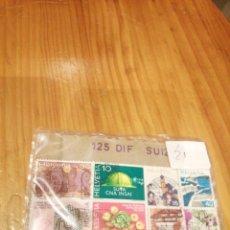 Sellos: 125 SELLOS CIRCULADOS DIFERENTES DE SUIZA. Lote 227268015