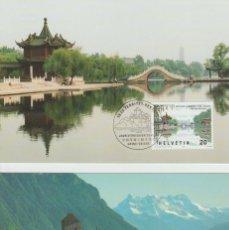 Sellos: SUIZA. DOCUMENTO (Nº 1597/98) TARJETAS DE LA EMISIÓN CONJUNTA CON REPÚBLICA CHINA. AÑO 1998.. Lote 227582540