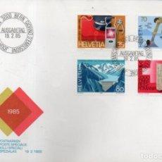 Sellos: VESIV SOBRE SUIZA PRIMER DIA MARCAS ESPECIALES 19-2-1985. Lote 228388675