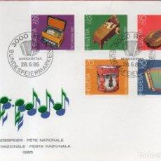 Sellos: VESIV SOBRE SUIZA PRIMER DIA FIESTA NACIONAL 1985. Lote 228390475