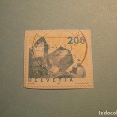 Sellos: SUIZA 2002 - MINERALES, CRISTAL DE CUARZO.. Lote 229678225