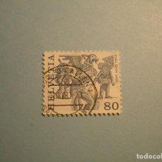 Sellos: SUIZA - BASIELA, DISFRACES PAJAROS - CARNAVALES.. Lote 229679045