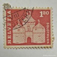 Sellos: HELVETIA. SELLO USADO DE 1,20 FR, DE 1960. SOLOTHURN. ENVÍO GRATIS POR PEDIDOS DE 3€ O MÁS.. Lote 231725825