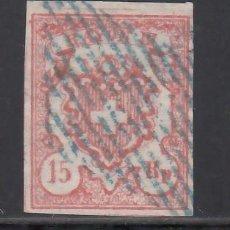 Sellos: SUIZA, 1852 YVERT Nº 22, 15 RR. ROJO, RAYON III. TIPO I. Lote 231812185