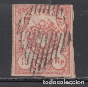 SUIZA, 1852 YVERT Nº 23, 15 RR. ROJO, RAYON III. TIPO II (Sellos - Extranjero - Europa - Suiza)