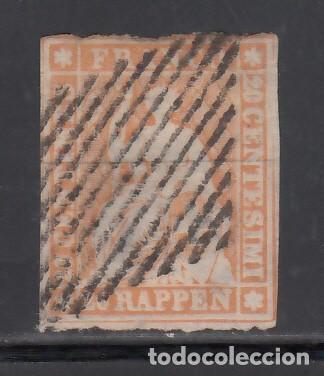 SUIZA, 1854-62 YVERT Nº 29, 20 R. NARANJA (Sellos - Extranjero - Europa - Suiza)