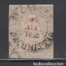Sellos: SUIZA, 1854-62 YVERT Nº 31, 1 F. GRIS.. Lote 231819265