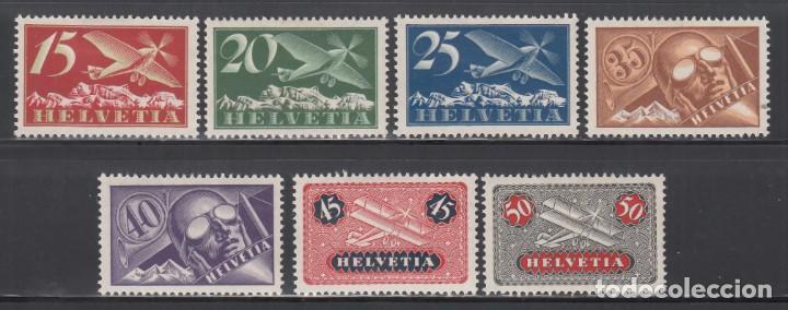 SUIZA, AÉREO, 1923-33 YVERT Nº 3 / 9 /*/ (Sellos - Extranjero - Europa - Suiza)