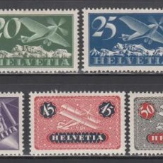 Sellos: SUIZA, AÉREO, 1923-33 YVERT Nº 3 / 9 /*/. Lote 231820205