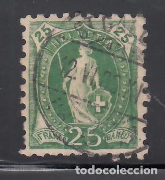 SUIZA, 1882-1904 YVERT Nº 82, 25 C. VERDE, DT. 9½ (Sellos - Extranjero - Europa - Suiza)
