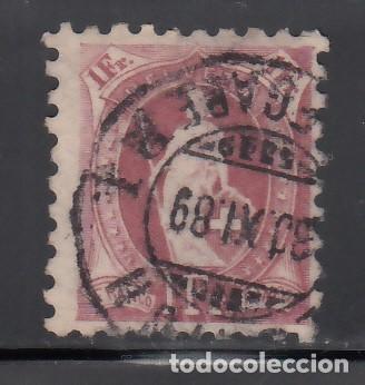 SUIZA, 1882-1904 YVERT Nº 82, 1 F. LILA VINO. DT. 9½ (Sellos - Extranjero - Europa - Suiza)