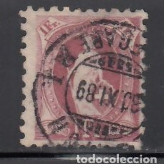 Sellos: SUIZA, 1882-1904 YVERT Nº 82, 1 F. LILA VINO. DT. 9½. Lote 231825295