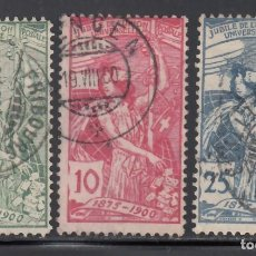 Sellos: SUIZA, 1900 YVERT Nº 86 / 88. Lote 231825605