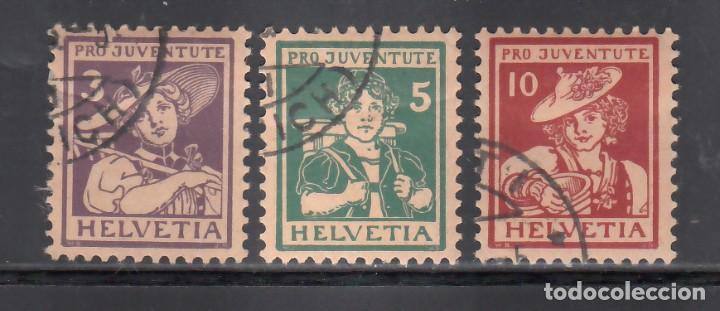 SUIZA, 1916 YVERT Nº 151 / 153, PRO - JUVENTUD. (Sellos - Extranjero - Europa - Suiza)