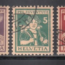 Sellos: SUIZA, 1916 YVERT Nº 151 / 153, PRO - JUVENTUD.. Lote 231827920