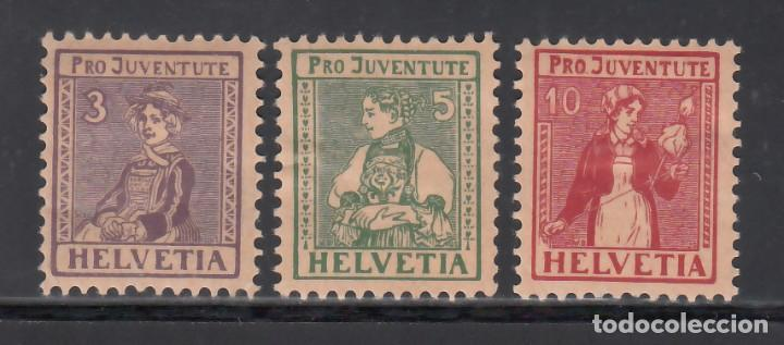 SUIZA, 1916 YVERT Nº 154 / 156 /*/, PRO - JUVENTUD. (Sellos - Extranjero - Europa - Suiza)