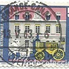 Sellos: LOTE DE 30 SELLOS USADOS DE SUIZA DE 1963-CENT. CONFERENCIA POSTAL DE PARIS. YVERT 710-VALOR 50 CT. Lote 236129945