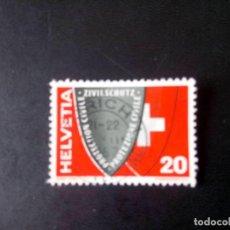 Sellos: SUIZA 1957, PROTECCIÓN CIVIL. Lote 236133150