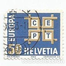 Sellos: LOTE DE 7 SELLOS USADOS DE SUIZA DE 1963- EUROPA CEPT- YVERT 716-VALOR 50 CENTIMOS. Lote 236141340