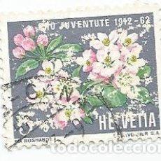 Sellos: LOTE DE 2 SELLOS USADOS DE SUIZA DE 1962-50 ANIVERSARIO PROJUVENTUD-YVERT 700-VALOR 5 + 5 CT. Lote 236209470