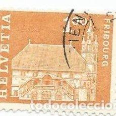 Sellos: LOTE DE 5 SELLOS USADOS DE SUIZA DE 1960-AYUNTAMIENTO DE FREIBURGO -YVERT 657-VALOR 1 CENTIMO. Lote 236219585